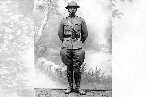 Postcard photo of Harry S. Truman taken in France during World War I.