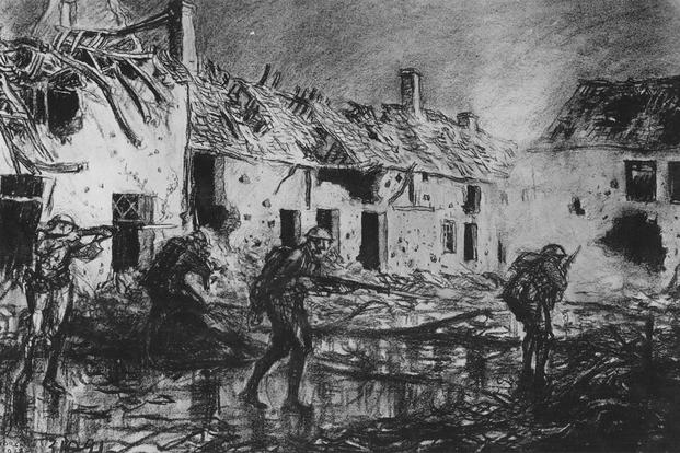 World War I Drawing by Captain Wallace Morgan