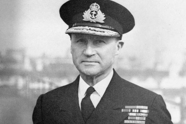 Portrait shot of Admiral Sir Bertram Ramsay who was in charge of the naval evacuation at Dunkirk. Photograph taken at his London Headquarters in October 1943.