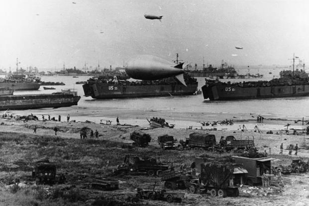 "This graphic tells the story of how the France beachhead was supplied on ""D-Day"". 6 June 1944 (Photo: National Archives)"