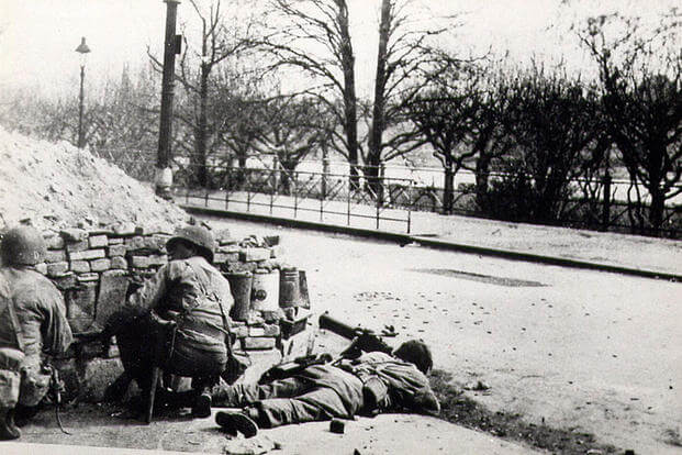 The 504th Parachute Infantry Regiment in Holland during Operation Market Garden, September 1944. (U.S. Army photo)