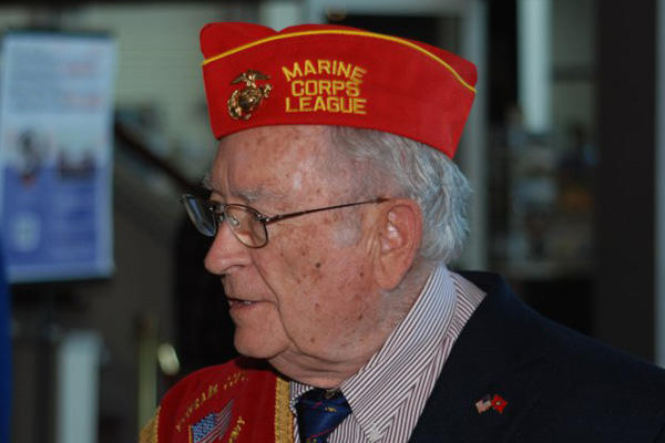 Elderly  marine veteran.