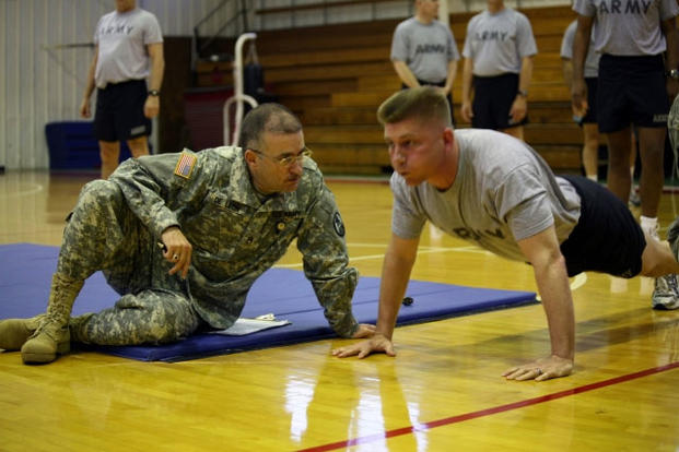 Army PFT Push-up Chart | Military com