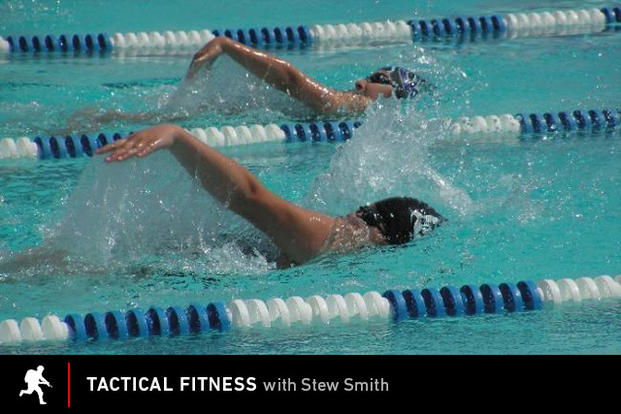 Tactical Fitness: Swimming in lanes.