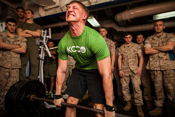 Military workouts with weights