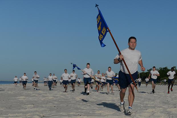 The 85th EIS invited other Keesler units to participate in the 90-minute PT session which also included a 1.5 mile run
