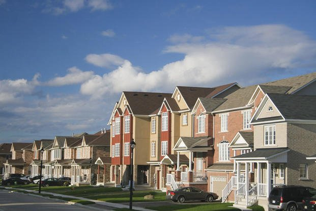 Row of houses in a subdivision