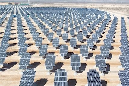 The solar array at Nellis Air Force Base, Nev.
