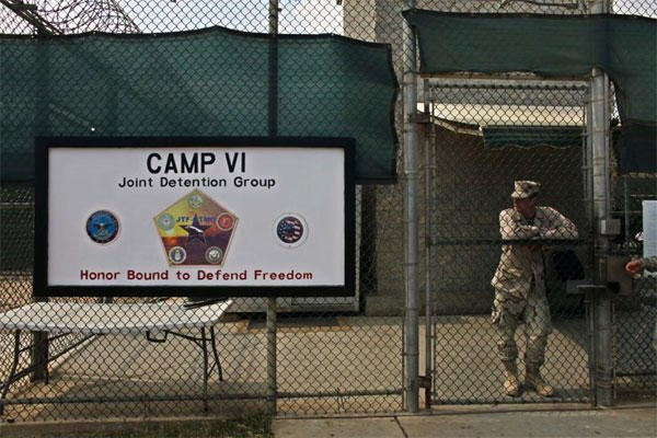 The U.S. government said six men who have been held more than 12 years at Guantanamo Bay have been sent to Uruguay to be resettled as refugees. (AP photo)