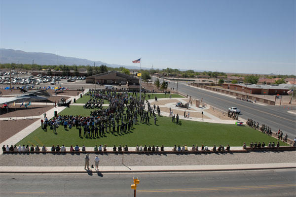 A view of the crowd during the Sunset Stealth retirement ceremony at Heritage Park on Holloman Air Force Base April 21, 2008. (U.S. Air Force photo by Airman 1st Class Rachel A. Kocin)