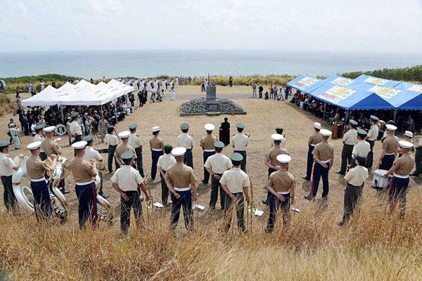 A memorial service is jointly held by Japan and the United States to mark the anniversary of one of World War II's bloodiest and most symbolic battles on the remote island of Iwo Jima, which is now officially called Ioto in Japan.