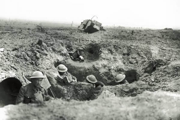 The trenches of World War I. (Defense Department photo)
