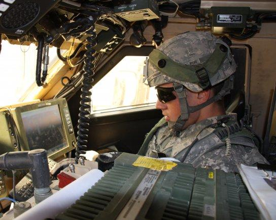 A soldier tests the Army's next-generation network gear