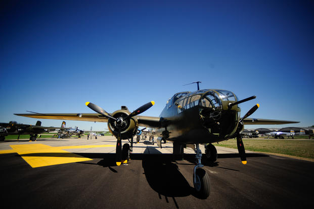 The B-25 medium bomber was one of America's most famous airplanes of World War II. (U.S. Air Force Photo)