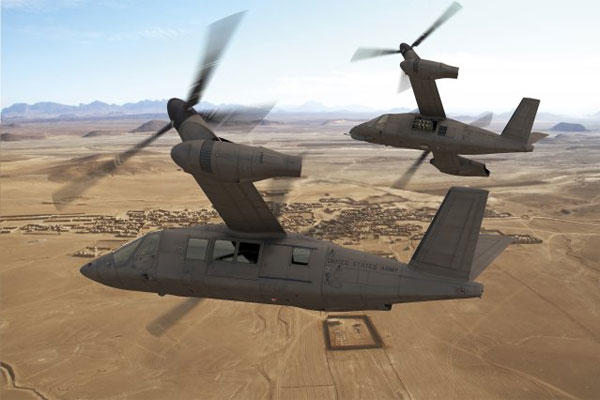 The tiltrotor V-280 Valor aircraft is Bell Helicopter's vision of the future as it prepares for flight demonstrations for the Army in 2017. Artists rendering courtesy Bell Helicopter