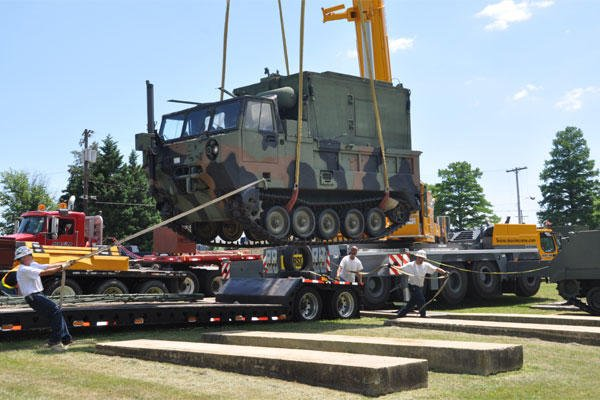 "An AN/MLQ-34 ""TACJAM"" Countermeasure Set is moved from Fort Monmouth, N.J., to a museum in Aberdeen Proving Ground, Md., July 14, 2011. (U.S. Army file photo)"