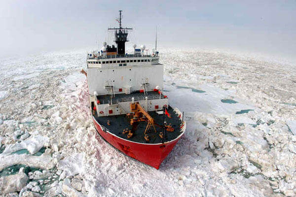 The Coast Guard Cutter HEALY (WAGB-20) is service's newest and most technologically advanced polar icebreaker. (Coast Guard photo)