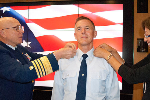 Adm. Paul Zukunft is frocked to the rank of admiral at a ceremony in Washington, D.C., May 15, 2014. (U.S. Coast Guard photo)