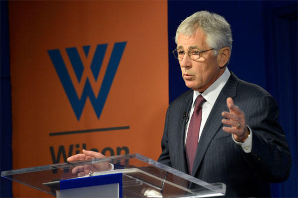 "Defense Secretary Hagel delivers remarks during the forum on NATO Expansion and European Security After the Cold War,"" at the Ronald Reagan Building in Washington, D.C., May 2, 2014. DOD photo by Glenn Fawcett"