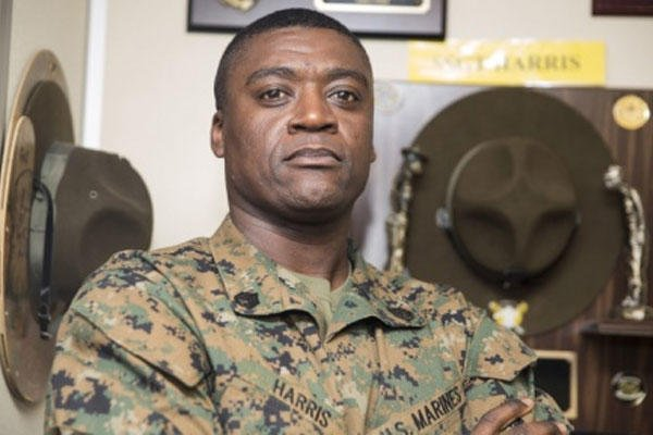 Marine Corps Staff Sgt. Clyde Harris, the warehouse supply chief for the 15th Marine Expeditionary Unit, poses for a photo at Camp Pendleton, Calif., Jan. 8, 2015. (U.S. Marine Corps photo by Cpl. Steve H. Lopez)