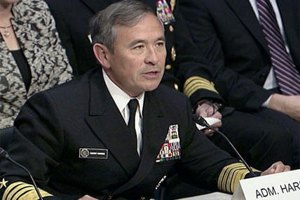Adm. Harry B. Harris, Jr. testifies before the Senate Armed Services Committee during a hearing to consider his nomination to be Commander, U.S. Pacific Command. (Department of Defense photo)