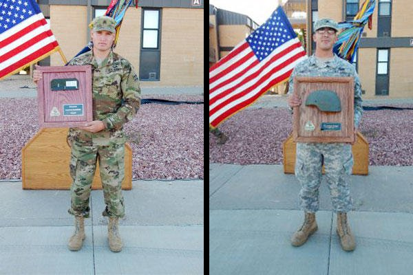 Sgt. Aaron Herbst, left, and Sgt. Christopher Thompson. (Photo: U.S. Army)