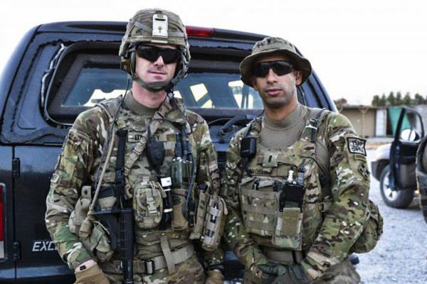Then-1st Lt. Florent Groberg, right, will be awarded the Medal of Honor on Nov. 12 at the White House for heroic actions in Afghanistan in 2012. Pictured with Groberg is Sgt. Andrew Mahoney of Laingsburg, Mich. (US Army photo)
