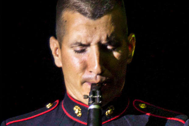 Clarinetist Sgt. Justin Grunes, a musician with Marine Corps Band San Diego aboard Marine Corps Recruit Depot San Diego, Calif., has spent time in the Marine Corps and the Army Reserves. (Photo: Sgt.Taylor Morton)