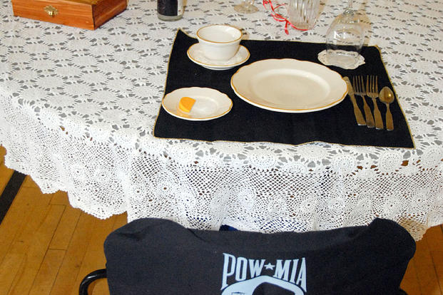 A Missing Man table at a Maryland VA facility. Air Force photo
