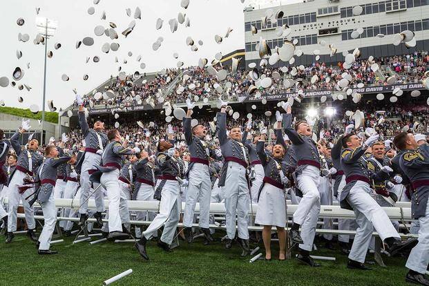 More than 950 cadets in the U.S. Military Academy's Class of 2016 graduated receiving their Bachelor of Science degrees at Michie Stadium in West Point, May 21. Vice President Joe Biden was the commencement speaker. (U.S. Army/Staff Sgt. Vito T. Bryant)