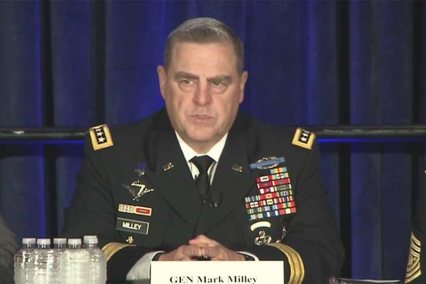 Gen. Mark Milley speaks at the AUSA 2016 Family Forum (Video grab via DoD Video)