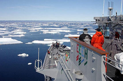 Navy leaders said rising water temperatures in the Arctic have forced the service to update its strategic outlook on the region. (U.S. Navy photo)