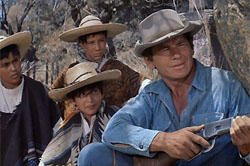 Charles Bronson and kids Magnificent Seven