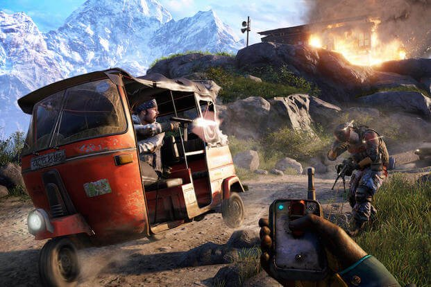 "This photo provided by Ubisoft shows a scene from the video game, ""Far Cry 4."" (AP Photo/Ubisoft)"