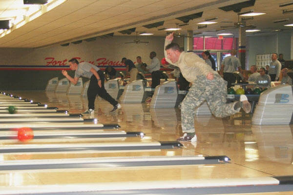 Warriors in Transition compete in the Adaptive Bowling Tournament Jan. 15 at the Fort Sam Houston Bowling Center (Photo: Tiffany Boulez)