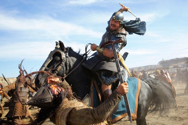 "This image released by 20th Century Fox shows Christian Bale in a scene from ""Exodus: Gods and Kings.""  (AP Photo/20th Century Fox, Kerry Brown)"