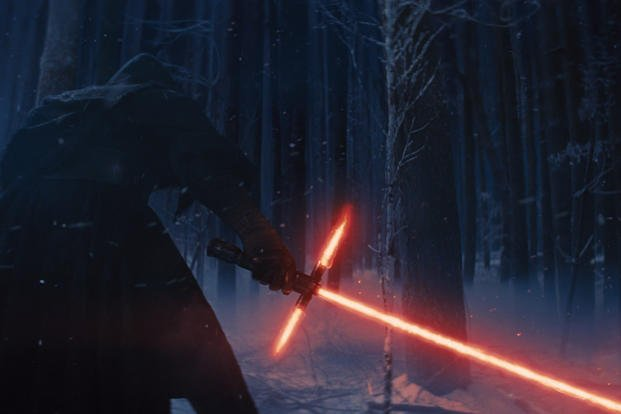 """Star Wars: The Force Awakens"" features a controversial new lightsaber design."