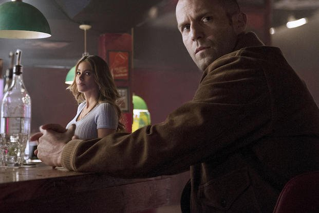 "This photo released by Lionsgate shows, Sofia Vergara, left, as DD and Jason Statham as Nick Wild in a scene from the film, ""Wild Card."" (AP Photo/Lionsgate)"