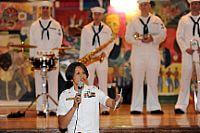 Sailors perform during Fleet Week in New York