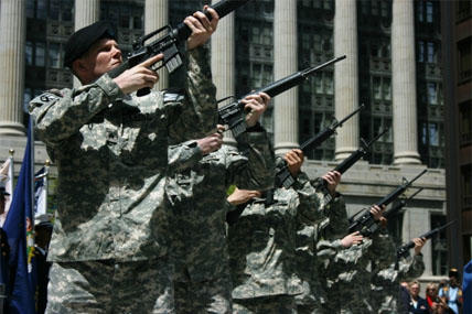 Illinois National Guard Members