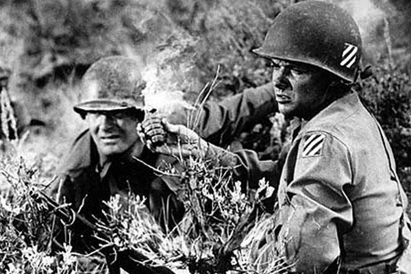 Audie Murphy (right) in To Hell and Back (1955). Photograph: Twentieth Century Fox