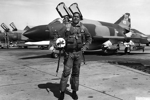 "Daniel ""Chappie"" James Jr. as an F-4 pilot during the Vietnam War. (U.S. Air Force photo)"