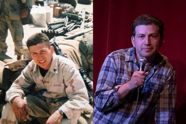 Jeffrey Carisalez, then a lance corporal and vehicle mechanic for Bravo Company, is now a 34-year-old stand-up comedian in Los Angeles. (Photos courtesy Jeffrey Carisalez)