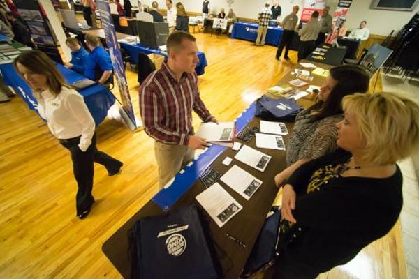 Navy veteran at American Legion Job Fair