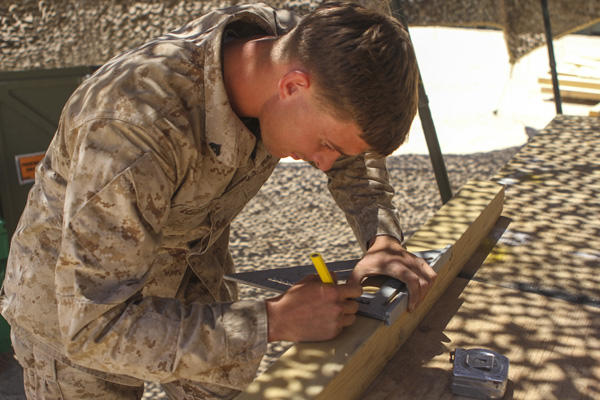 Cpl. Tanner Lechner, Marine Corps engineer.