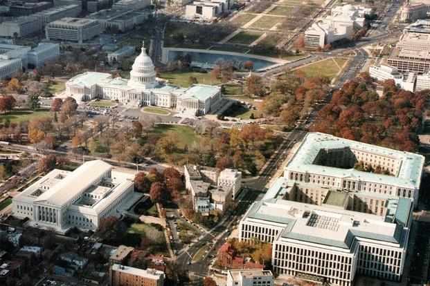 Aerial view of Capitol Hill and the National Mall, Washington D.C. (Photo: Architect of the Capitol's Office)