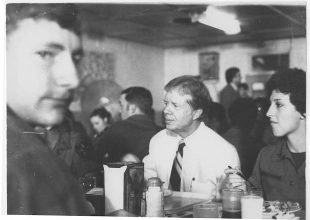Bob at breakfast with President Jimmy Carter, 1979.