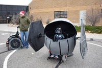 Cole Geraghty in his Tie Fighter costume. (Courtesy of Stephanie Geraghty)
