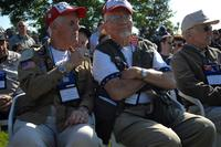 World War II veterans take part in a ceremony in Amfreville, France June 5, 2011 (DoD/Tech Sgt. Michael Voss)