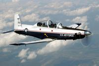 The T-6A Texan II is a single-engine, two-seat primary trainer designed to train Joint Primary Pilot Training, or JPPT, students in basic flying skills common to U.S. Air Force and Navy pilots. (U.S. Air Force/Master Sgt. David Richards)